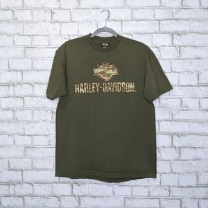 Harley Davidson Camo Army Military Double Sided